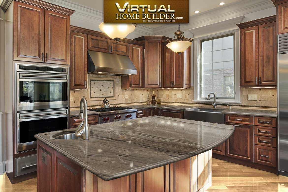 Virtual kitchen design tool visualizer for countertops for Virtual kitchen designer